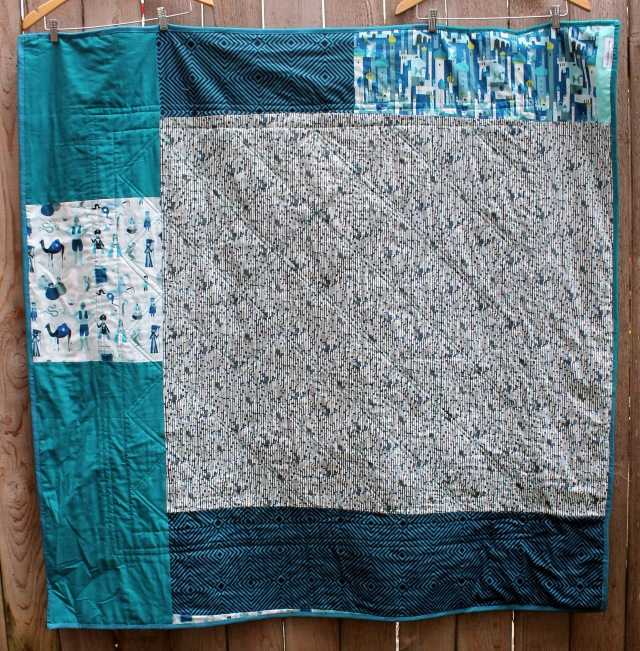 modern quilt back