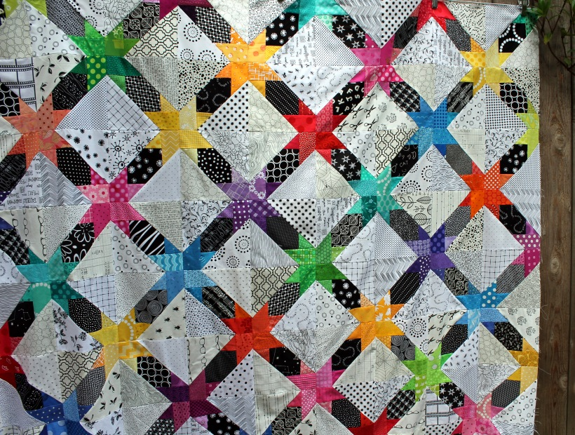 star string quilt detail