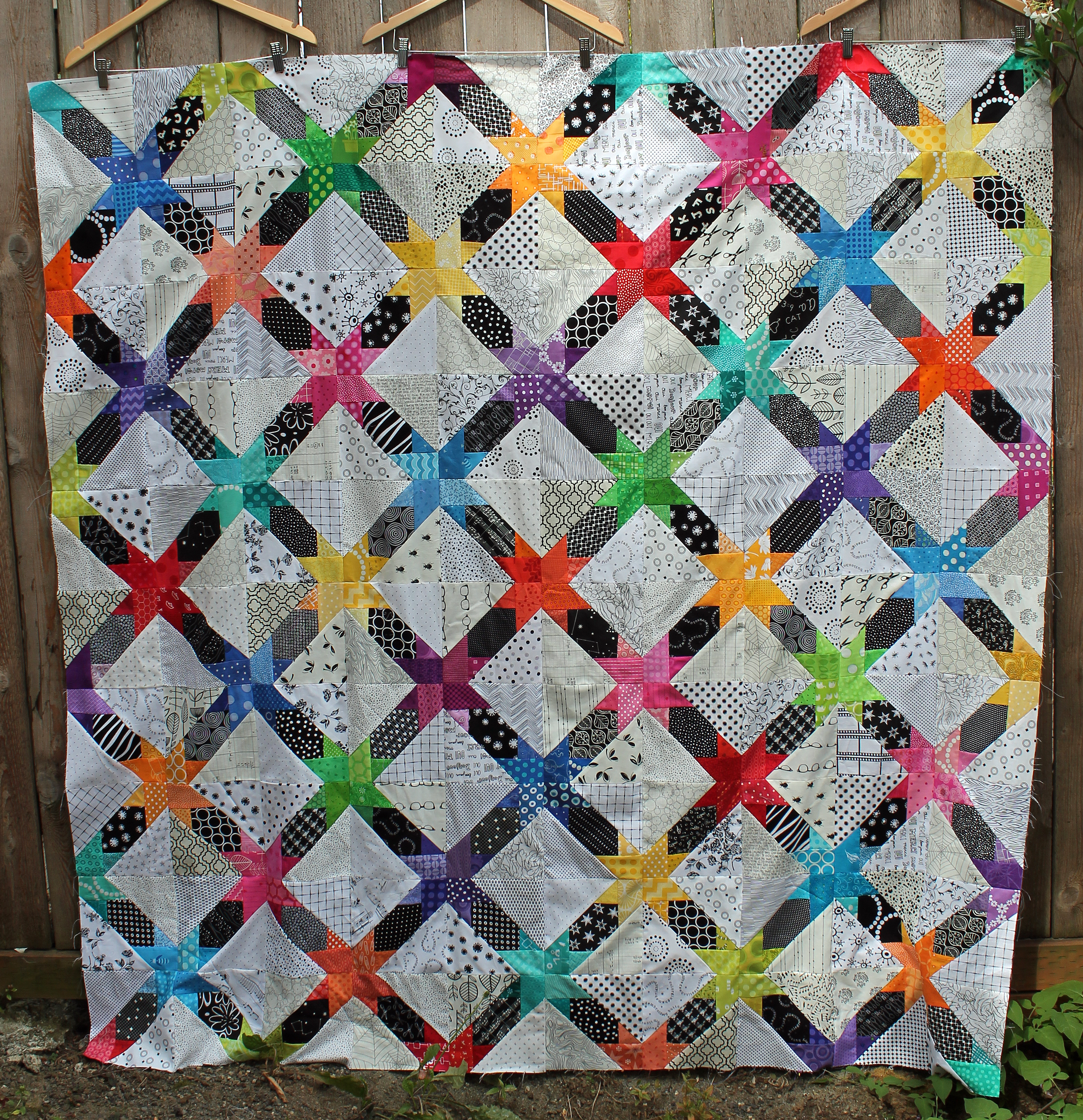 Star String Quilt Top Finished Wombat Quilts