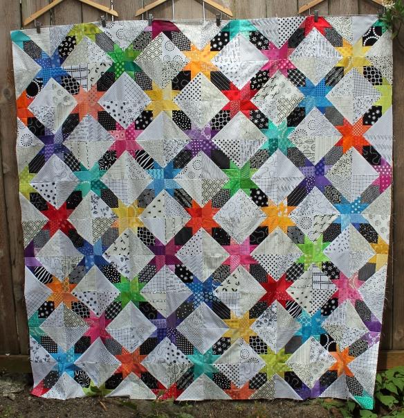 free quilt pattern modern star