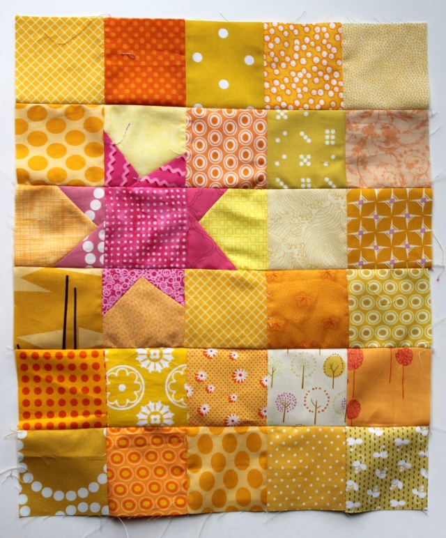 Doll quilt wonky star