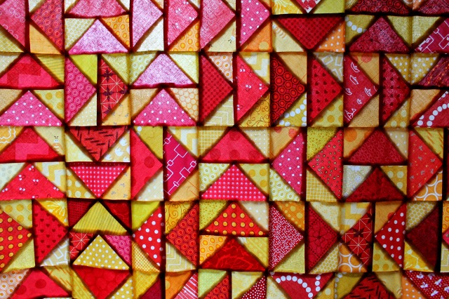back lit quilt detail