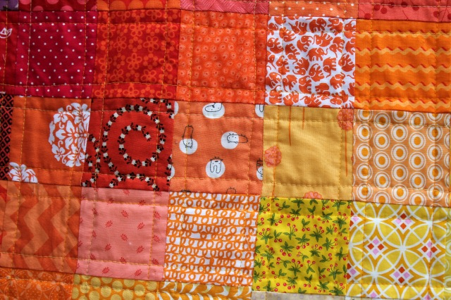 finished quilt detail cu