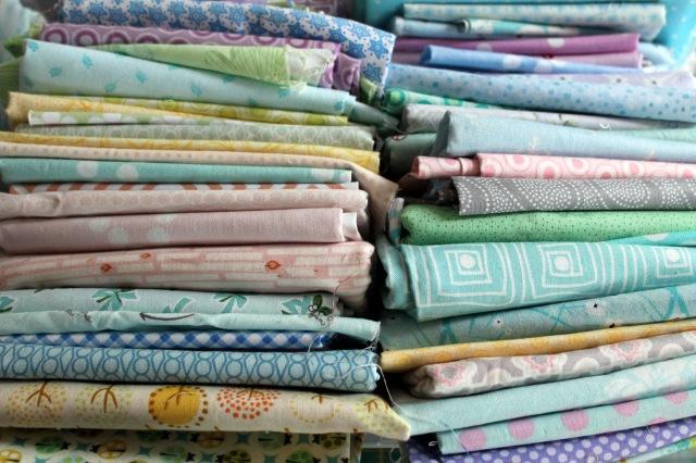 pastel fabric pull
