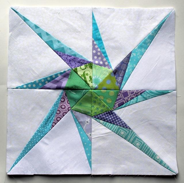 lucky star pinwheel quilt block