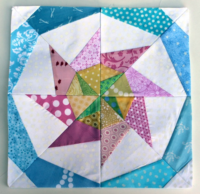 modern paper pieced scrap star