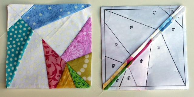 pinwheel star block pieces