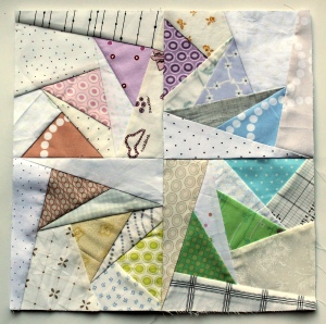scrap modern paper pieced block