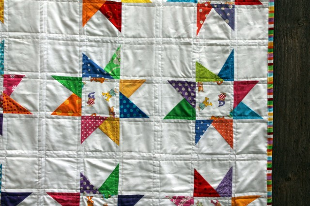 wonky star quilt detail