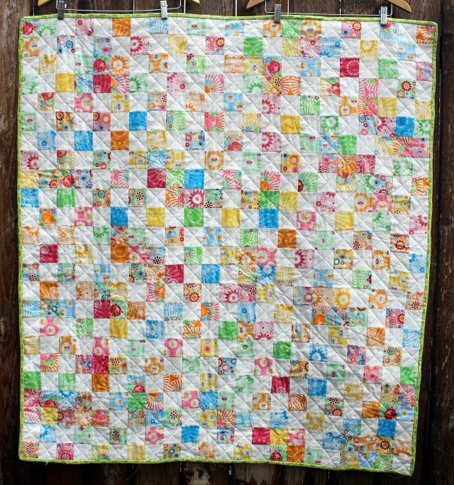 Easy modern kids quilt