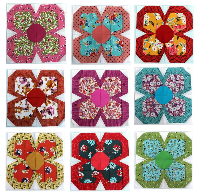 Denyse Schmidt paper pieced flowers