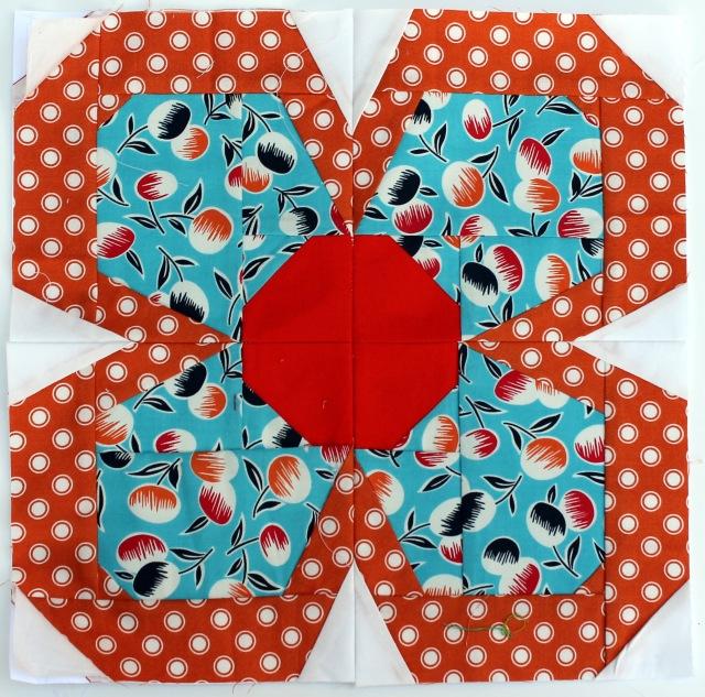 paper pieced flower pattern