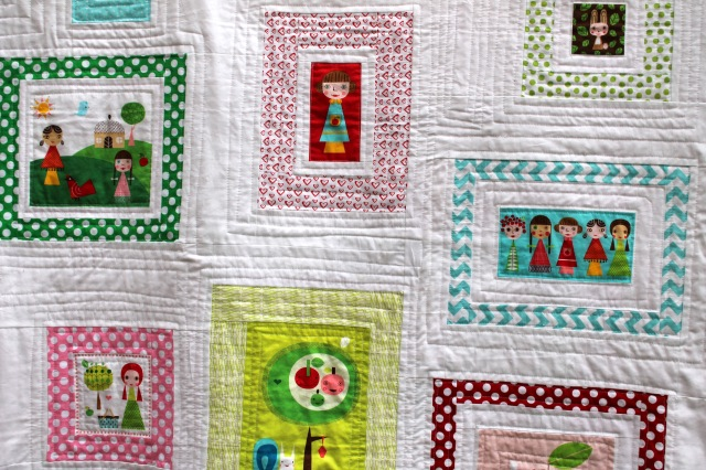 Appleville quilt detail 2