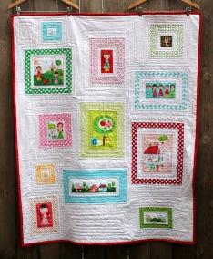 Appleville modern kids quilt