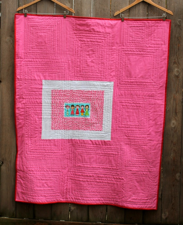 Applieville quilt back