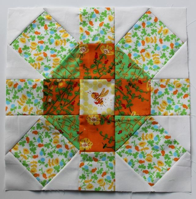 fussy cut modern quilt block