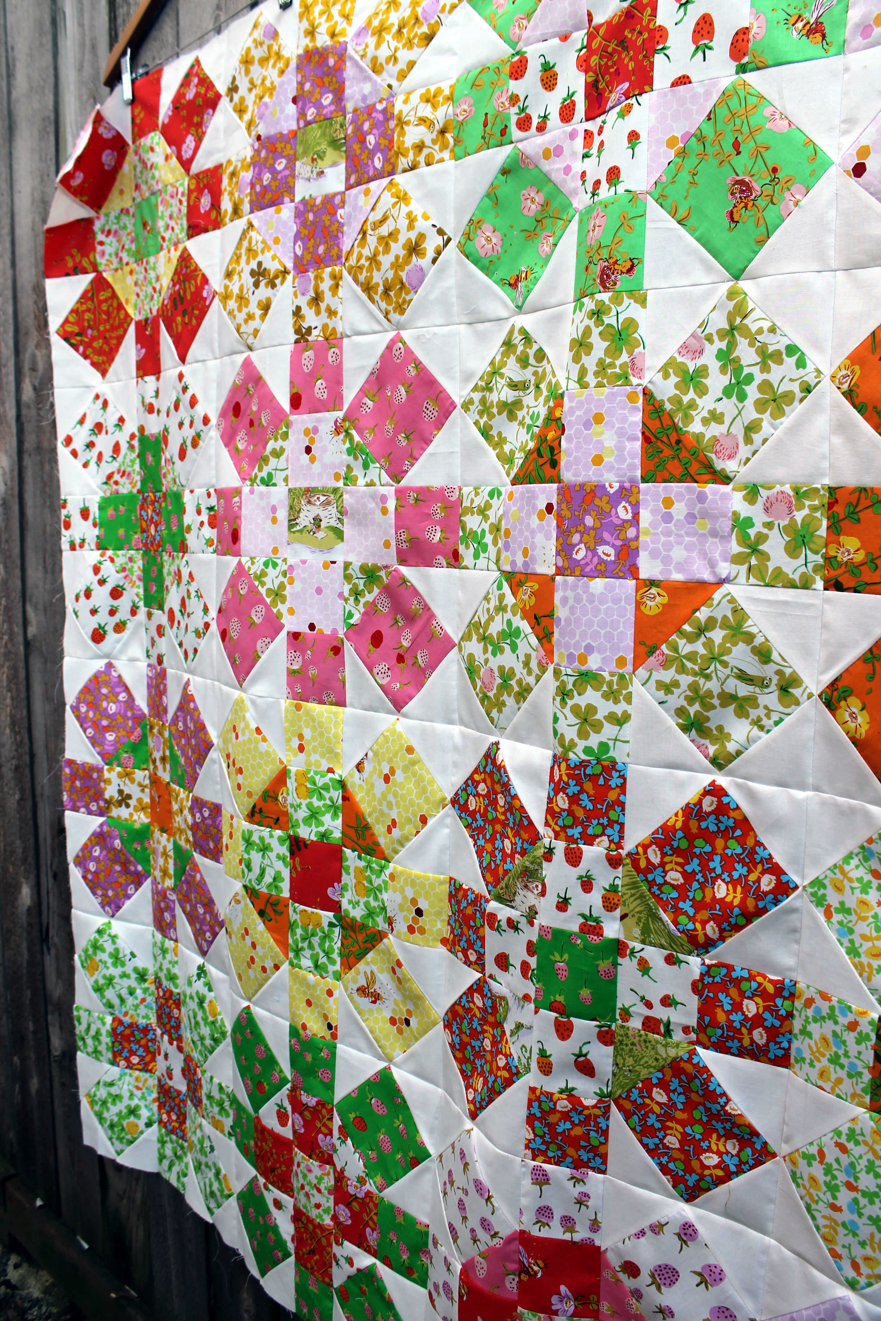 Briar Rose Quilt Top Finished Wombat Quilts