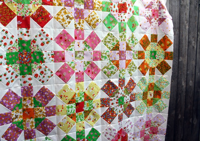 Briar Rose quilt top detail 2