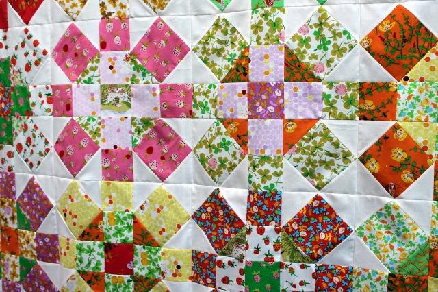 Briar Rose Quilt top detail 3