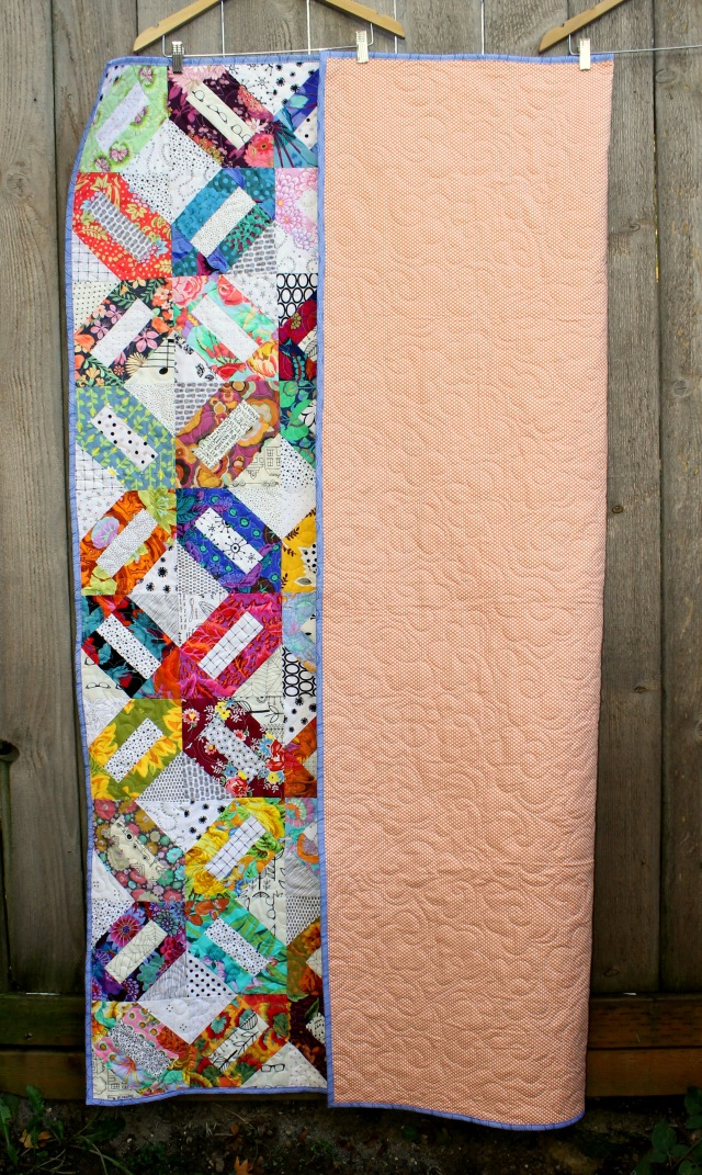 Floral Cracker quilt back