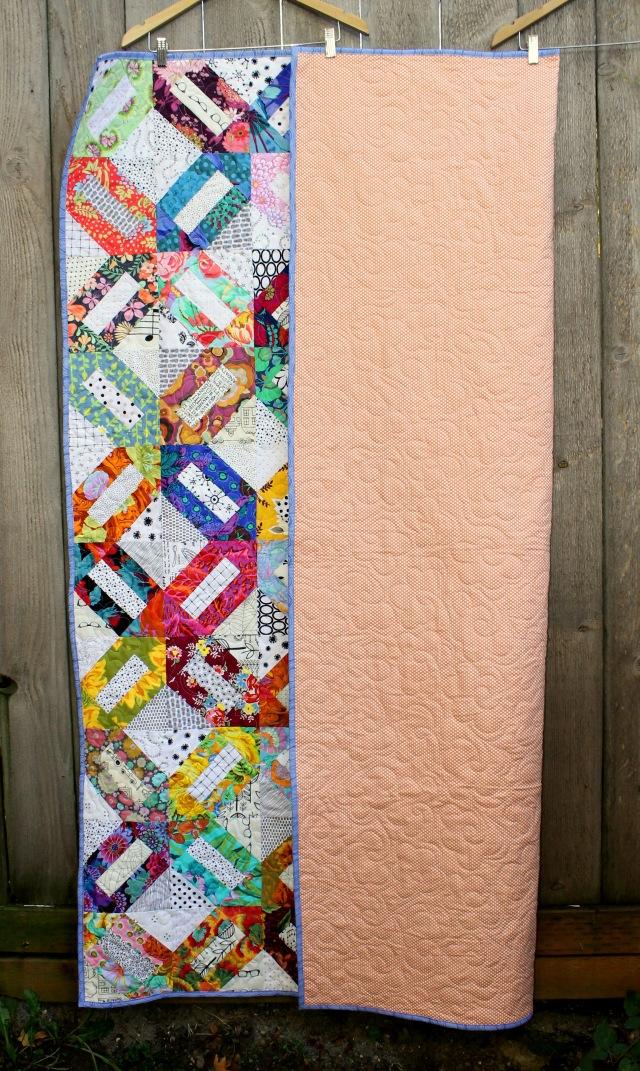 Floral Cracker quilt back