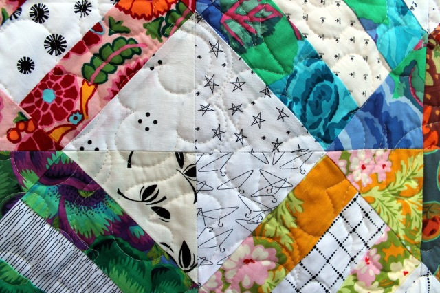 Floral cracker quilting motif