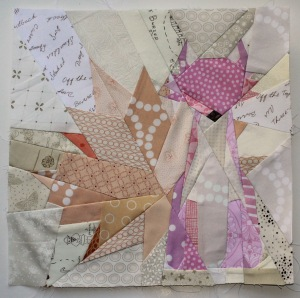 Paper pieced fox block