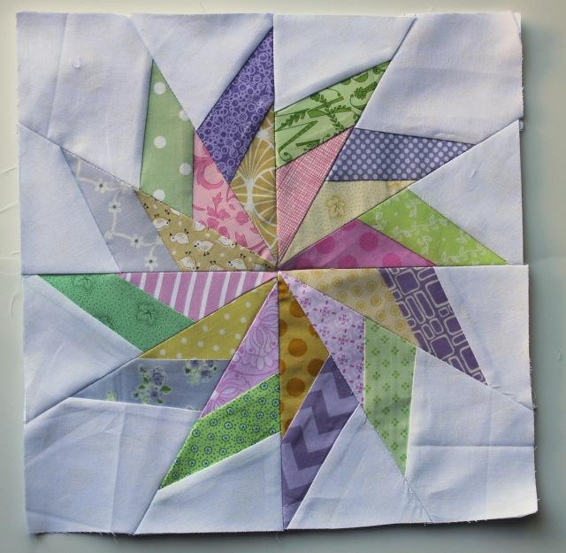 paper pieced scrap star block