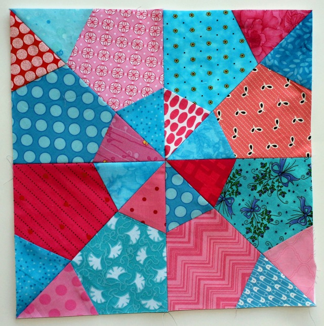 modern scrap quilt block from October
