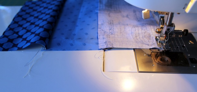 sewing strips together