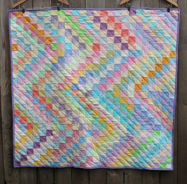Trip around pastel quilt