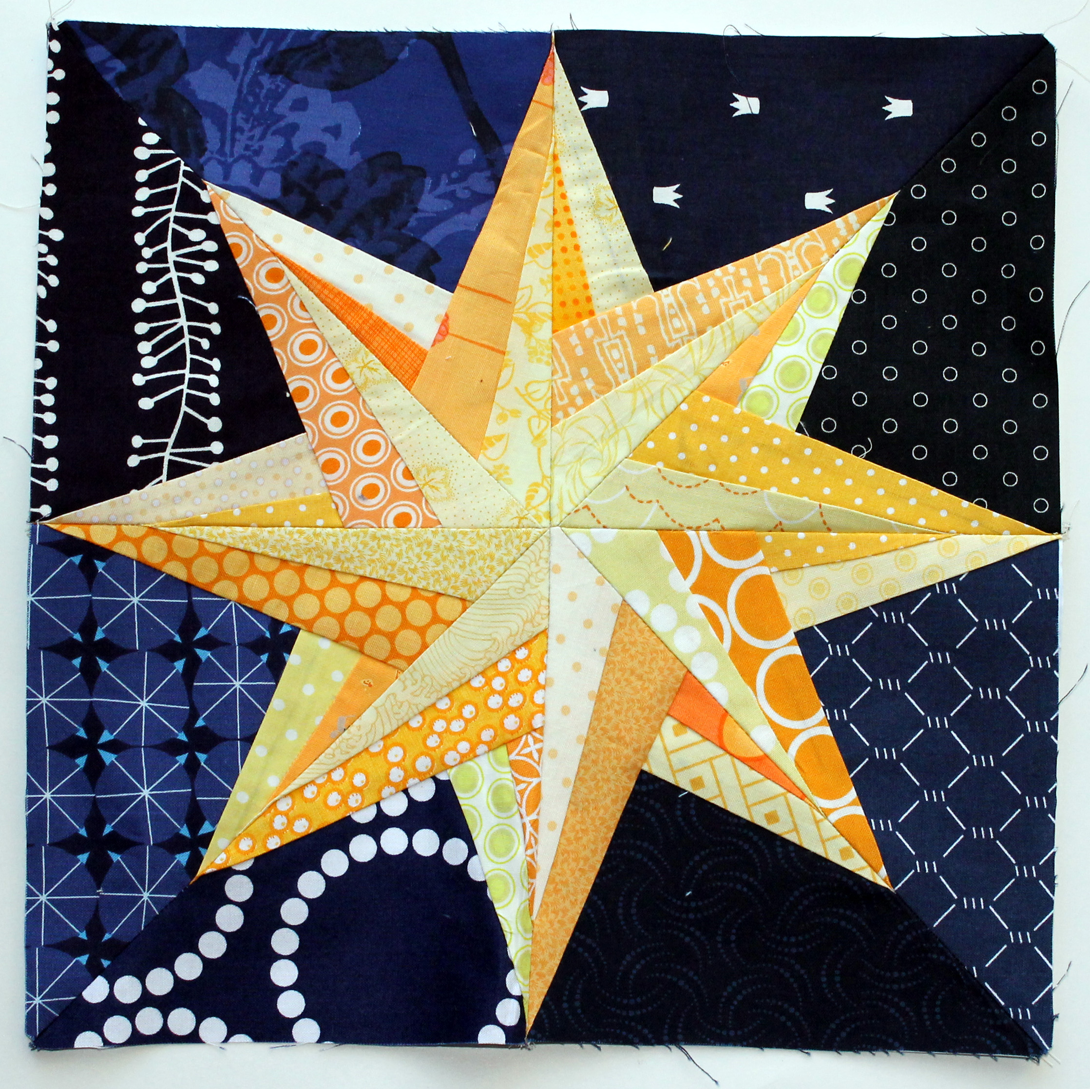 Free Paper Piecing Patterns Quilt Blocks : Starry Night Paper Piecing Monday Wombat Quilts Motorcycle Review and Galleries