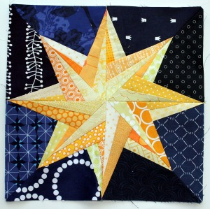 paper pieced star quilt block