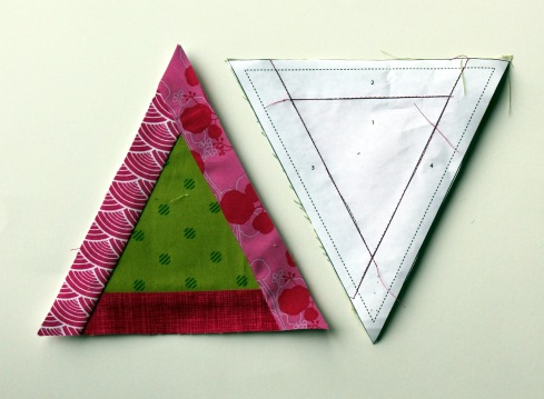 paper pieced triangle blocks