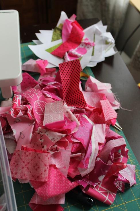 pink strips everywehere