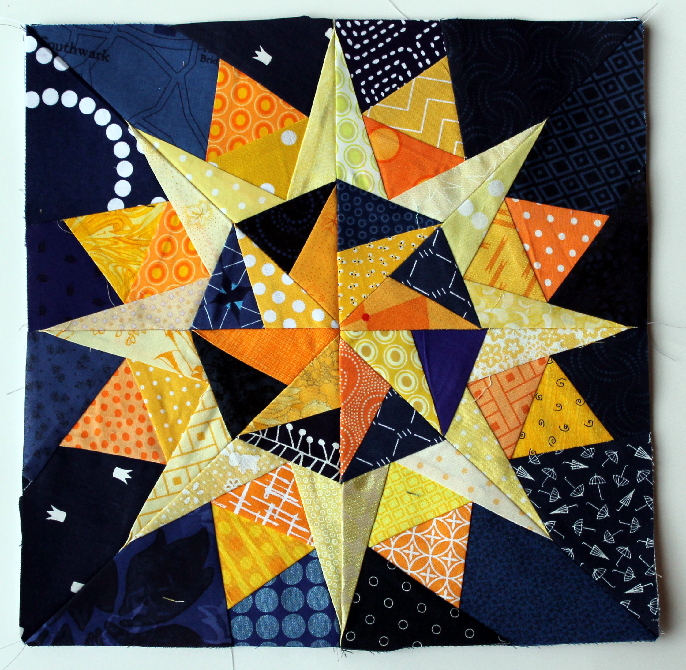 Free Quilt Patterns And Blocks : Starry night Cactus Compass block