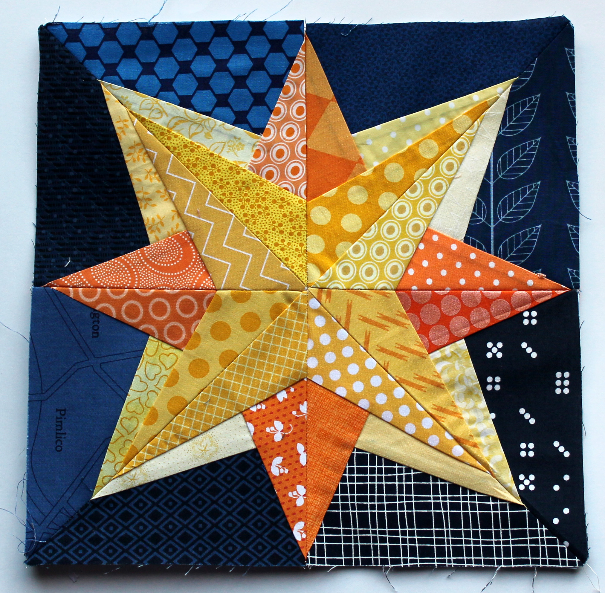 Free Paper Piecing Patterns Quilt Blocks : Starry Nights grow Paper Piecing Monday WOMBAT QUILTS