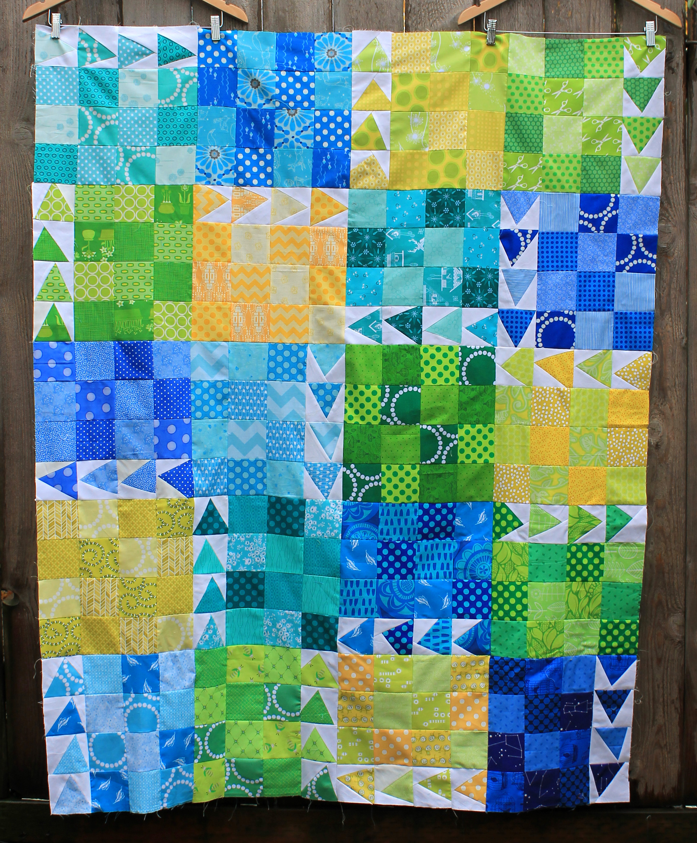 urban chicken quilt block WOMBAT QUILTS