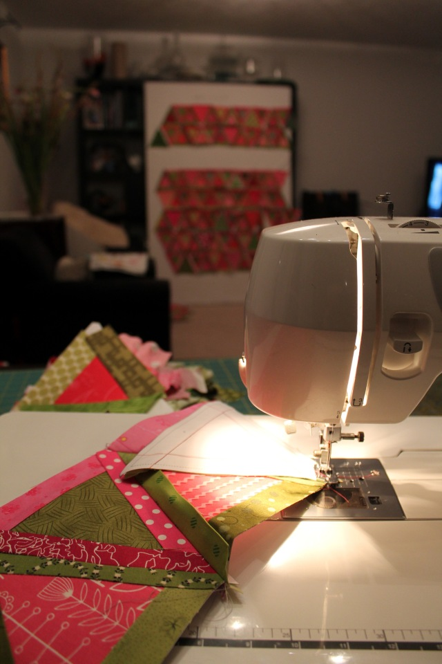 view from my sewing machine