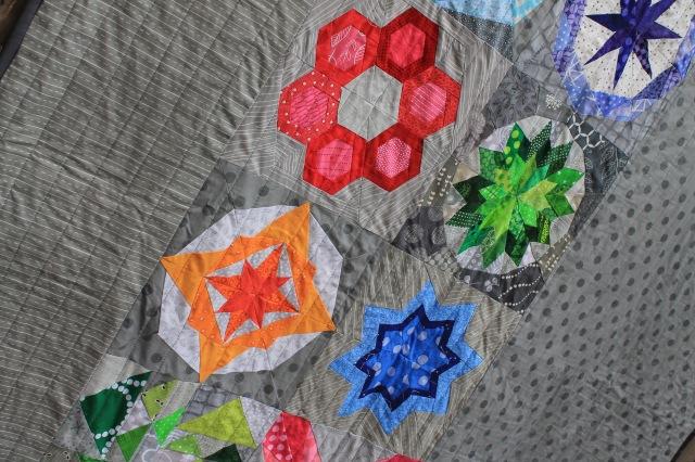 Block rockn quilt detail