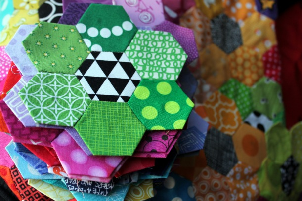 english paper pieced hexagons