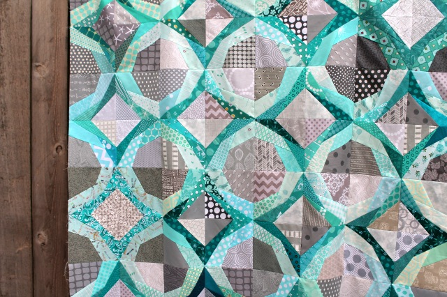 icicle quilt top detail