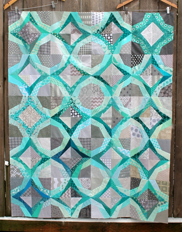 easy paper pieced quilt top