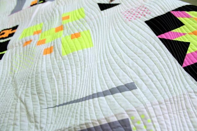 neon challenge quilt quilting