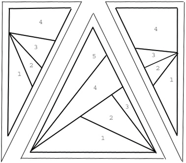 wonky scrap star pattern