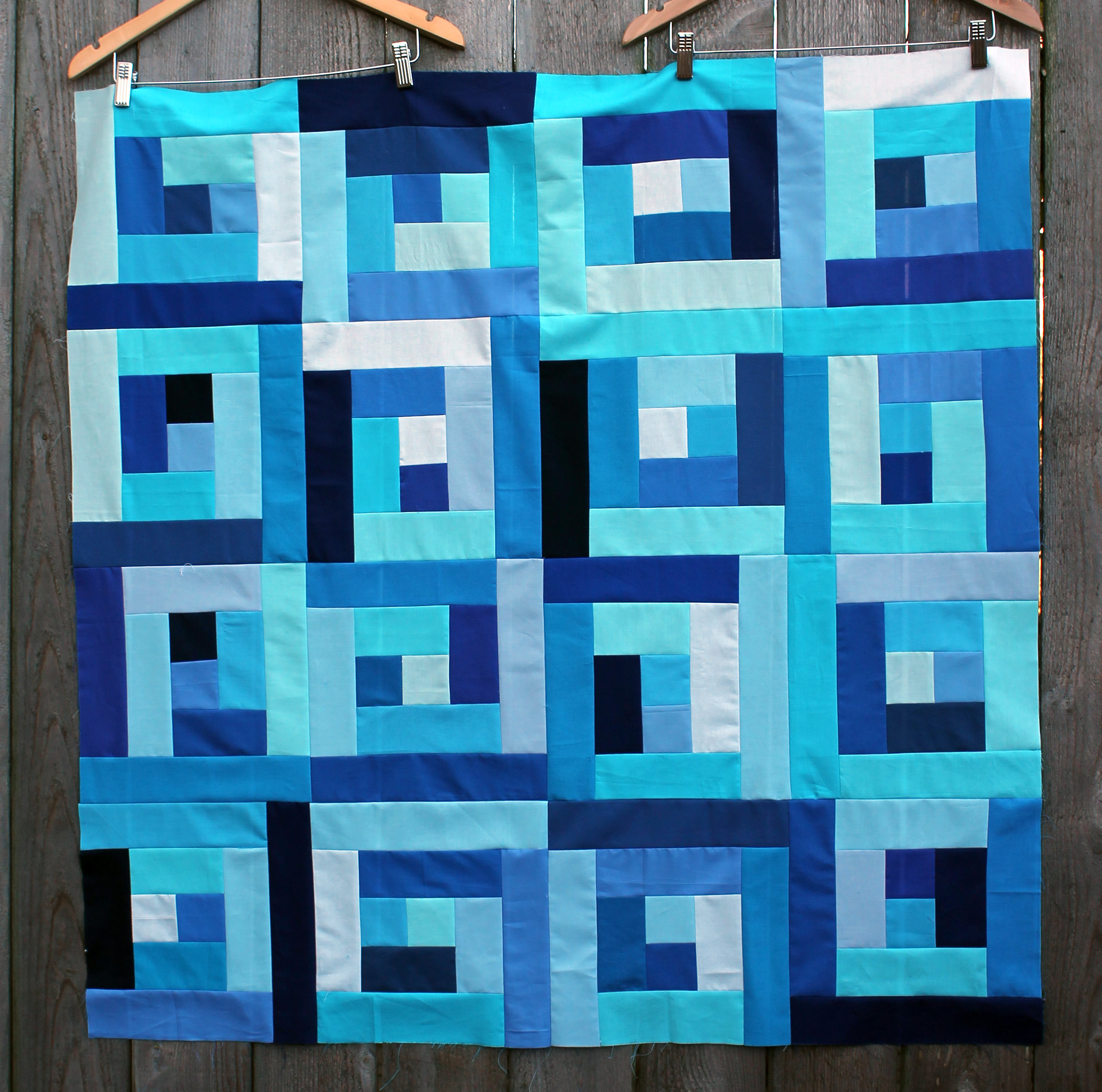 quilts quilt blue pin triangle pinterest