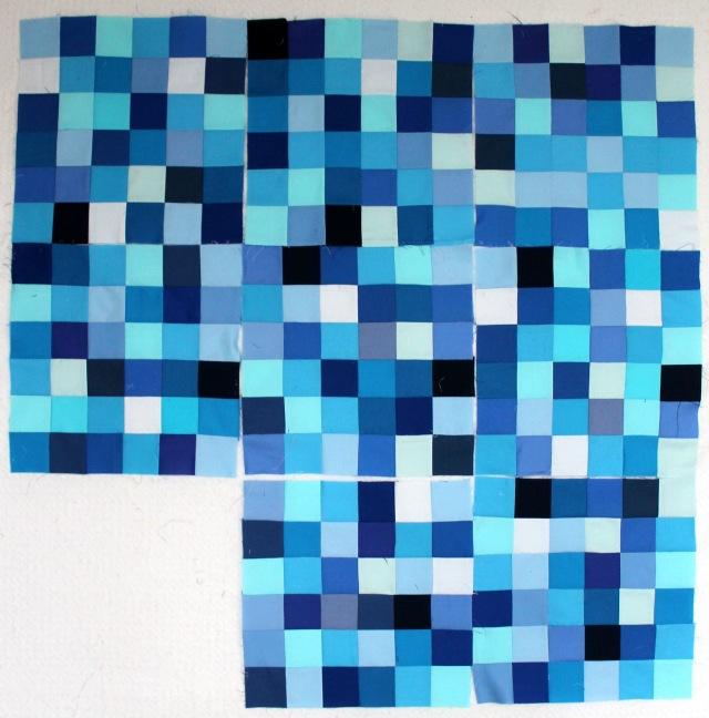 Blue design wall