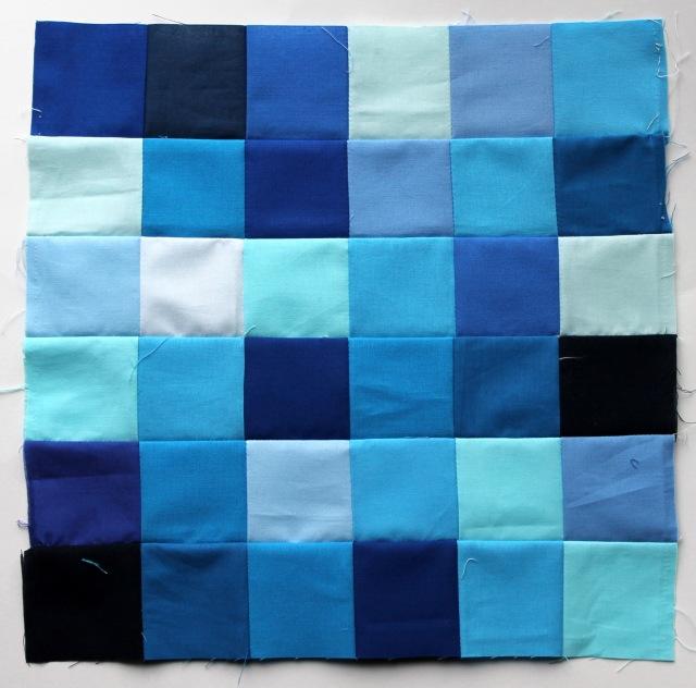 blue quilt block