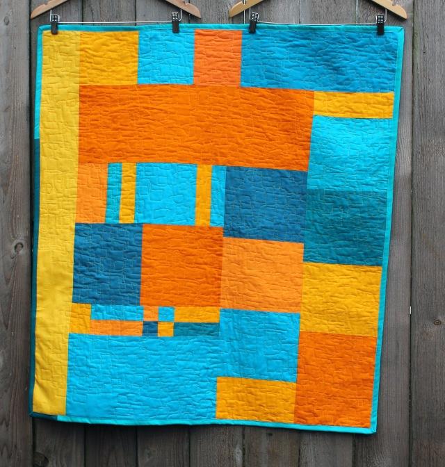 improv baby quilt