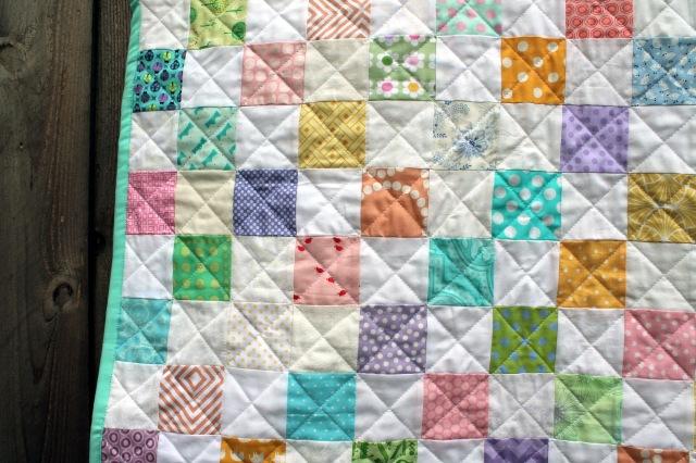 pastel quilt detail